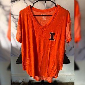 University of Illinois V Neck T Shirt